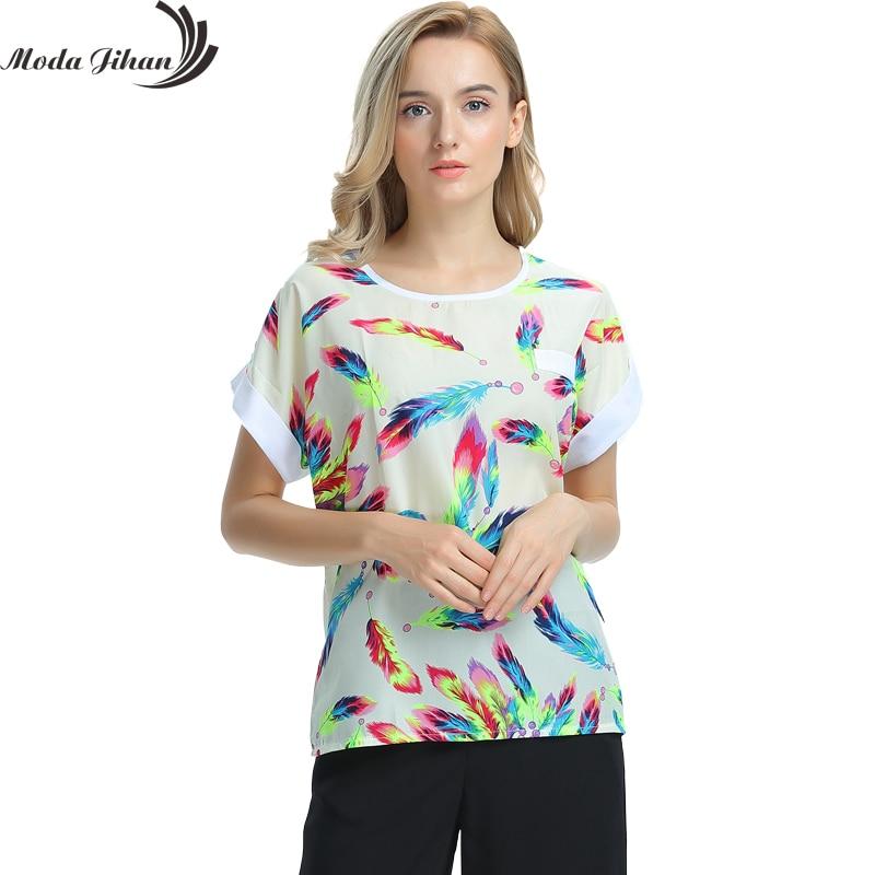 Для женщин Блузки для малышек Рубашки для мальчиков шифон feminina футболка Шорты, рубашка женщина Костюмы Blusa Camisa летняя футболка цветочный Мода