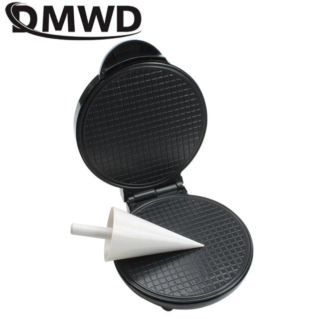 DMWD электрическое устройство для изготовления рулетов самодельный Лед Крем конус машина Хрустящие яйца Форма для омлета креп противень вафли блинчики посуда ЕС вилка