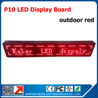 2015 direct selling custom led sign outdoor 16*128 pixel p10 business store open signboard 4pcs 320*160mm p10 red module