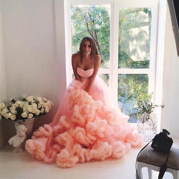 russian elegant sweetheart beaded waist cloud ruffles wedding dresses plus size peach tulle maternity wedding gown for pregnant