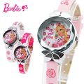 100% Подлинная Disney Барби принцесса розовая кукла Смотреть Дети детские Девушки Парни Учащиеся Кварцевые Наручные Часы