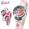100% Genuine Disney Barbie princess pink doll Watch Children Kids Girls Boys Students Quartz Wristwatches