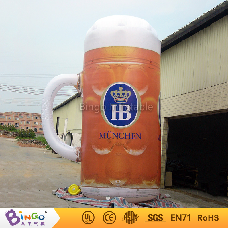 Hot selling inflatable beer mug / inflatable beer cup with led light for culb praty event advertising toy кружка dc beer mug black