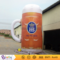 Venta caliente inflable cerveza taza/taza de cerveza inflable con luz led para culb praty publicidad evento juguete