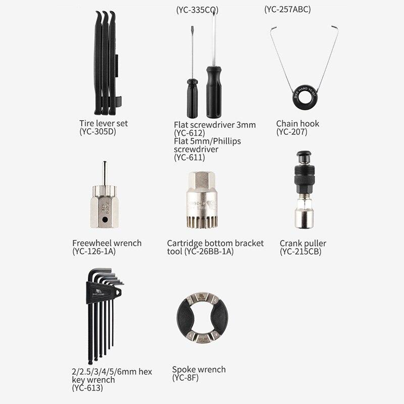 Набор инструментов для ремонта велосипеда 18 в 1, набор инструментов для ремонта горного велосипеда, инструменты для ремонта цепи шин, набор ... - 6