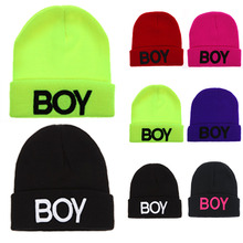 Hats for Boys Children Kids Letter Boy Beanie Baby Caps Ski Cotton Knitted Woolen Skull Hats For Baby Boys Girls Accessories