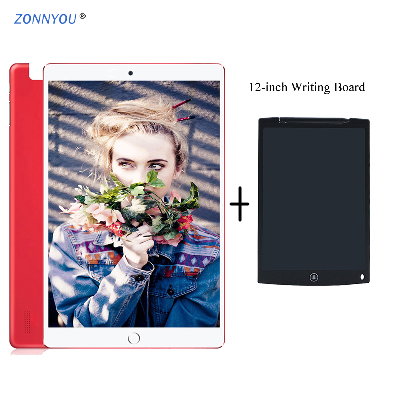 10.1 Inch PC Tablet Android 8.0 3G/4G Phone Call Wi-Fi Bluetooth 6GB/128GB Octa Core Dual SIM Support PC +12-inch Writing Board