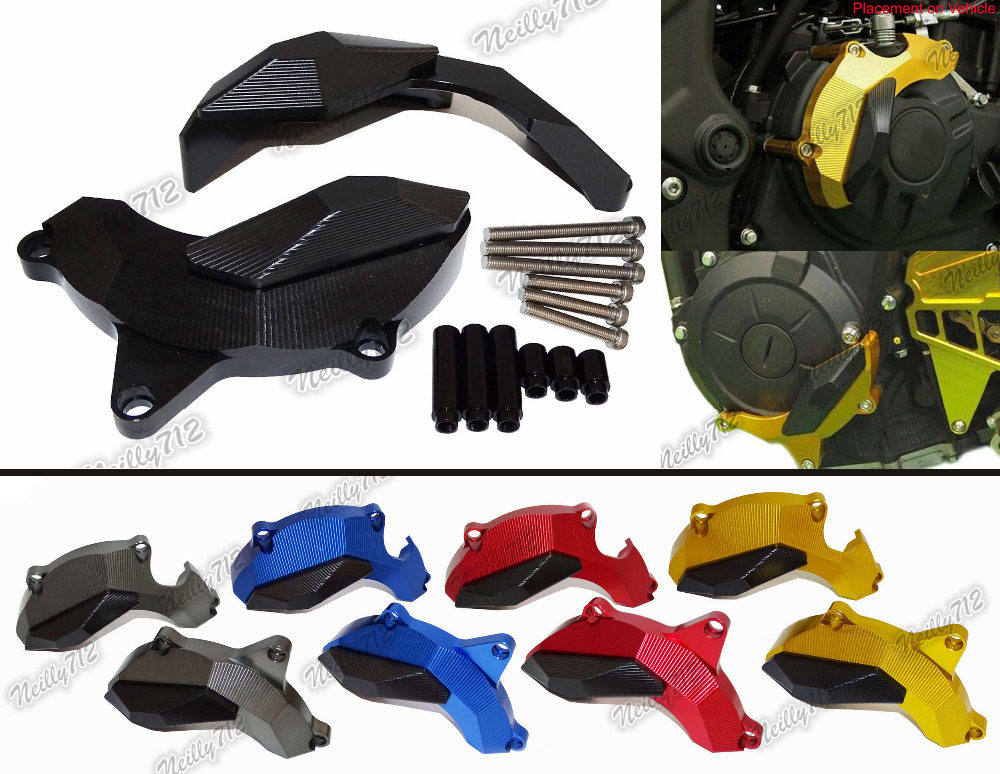 цены waase CNC Aluminium  Right & Left Engine Protective Protect Cover For Yamaha YZF R3 R25 2013 2014 2015 2016