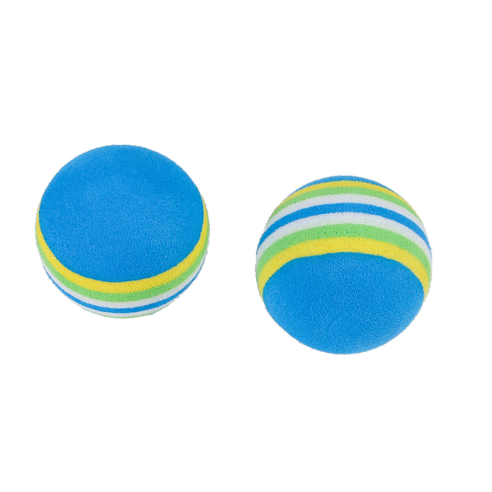 Pet Dog Rainbow Ball Toy Colorful EVA Rubber Safety Chew Toys for Small Dogs Cats Puppy Kitten Small Animals Pet Training Toys (6)