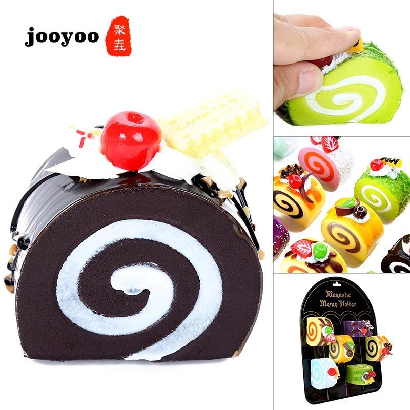 Swiss Roll Eggs Simulation Cake Squishy Kneading Music Decompression Toys Jooyoo