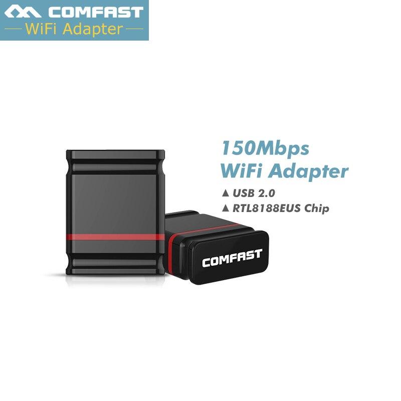 RTL8188EUS 150Mbps Mini 150M USB 2.0 wifi receiver wireless network card wi-fi dongle 802.11 n/g/b external usb wifi Adapter