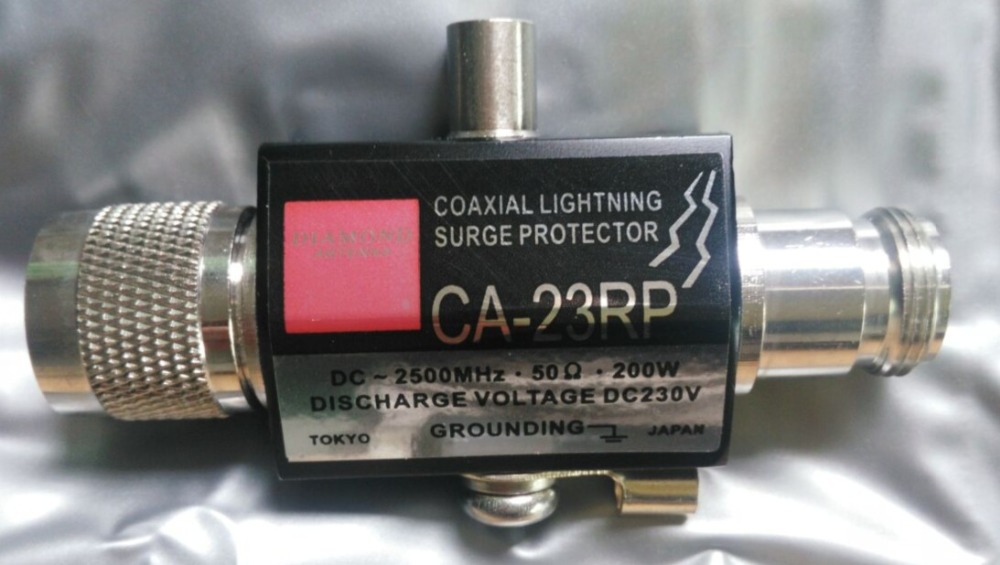 Coaxial RF arrester CA-23RS 200W DC230V CA-23RS Lightning Surge Protector Arrester (N) Connector Free Shipping
