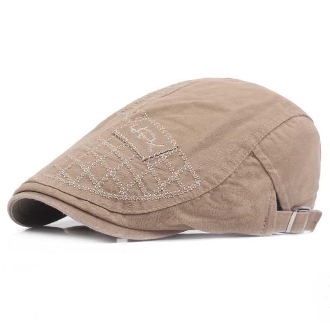 NaroFace Cotton Mens Ivy Hat Summer Cap Golf Driving Sun Flat Cabbie flat hat Newsboy Cap Casual Hats