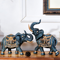 Decoración Para sala de estar elefante Tv gabinete decoración artesanía decoración de jardín accesorios para manualidades Feng Shui elefante resina decoración del hogar