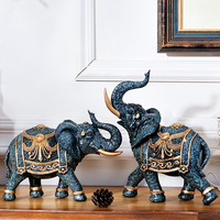 Living Room Decoration Elephant Tv Cabinet Decoration Crafts Garden Decor Craft Accessories Feng Shui Elephant resin Home Decor
