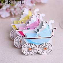 50pcs Candy box Baby stroller baby shower birth favors boxes Party supplies baptism christening gift Wedding Favor