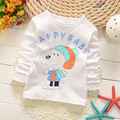 Kids clothes Children T Shirt Cotton long Sleeve T-Shirts For Boys Cartoon Print t-shirts Fashion Tops Girls Clothing White Tees