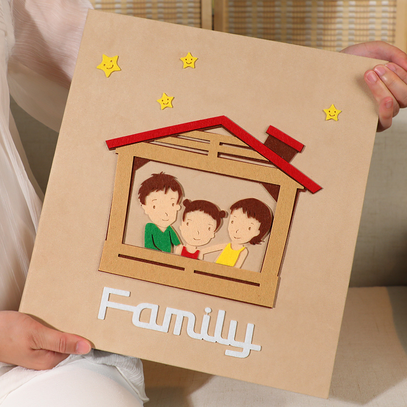 All 6 inch 600 photos big capacity insert photo album family couple baby growth commemorative felt