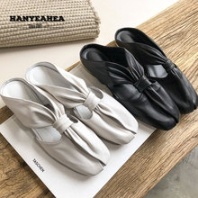 Solid Color Womens Summer Shoes Casual Fashionable Flat Slippers Fashion Rivet