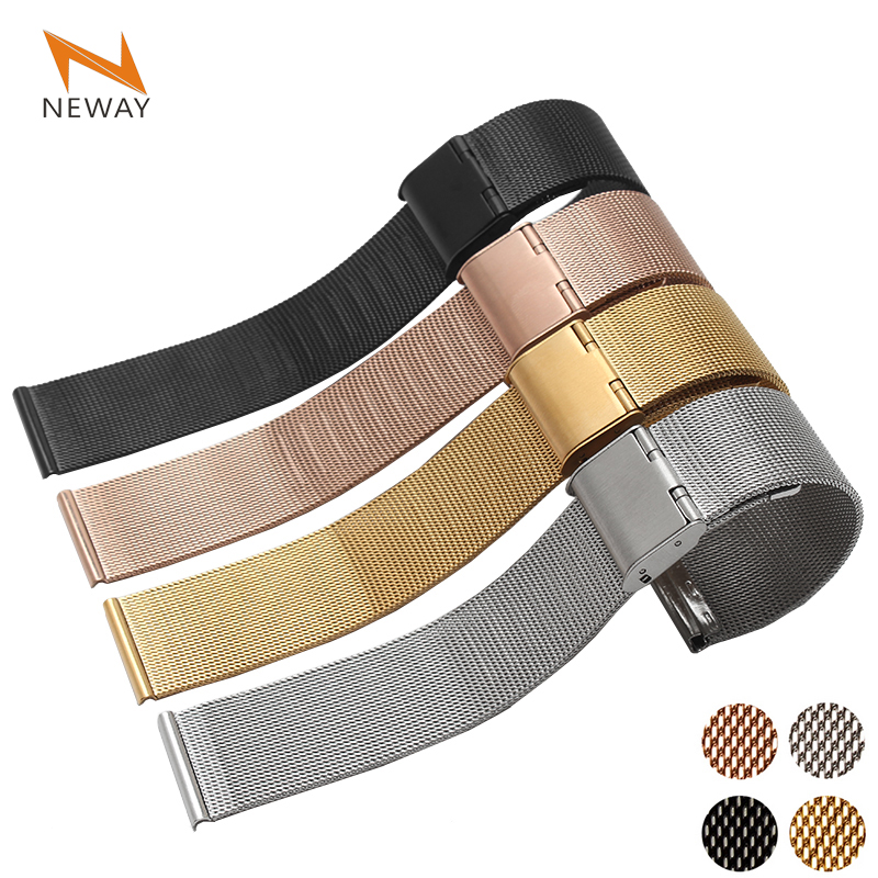 Stainless Steel mesh Wrist loop Watch Band  for Apple Watch iWatch 38mm 42mm  Watchband Wristband Sport Edition wristband silicone bands for apple watch 42mm sport strap replacement for iwatch band 38mm classic stainless steel buckle clock