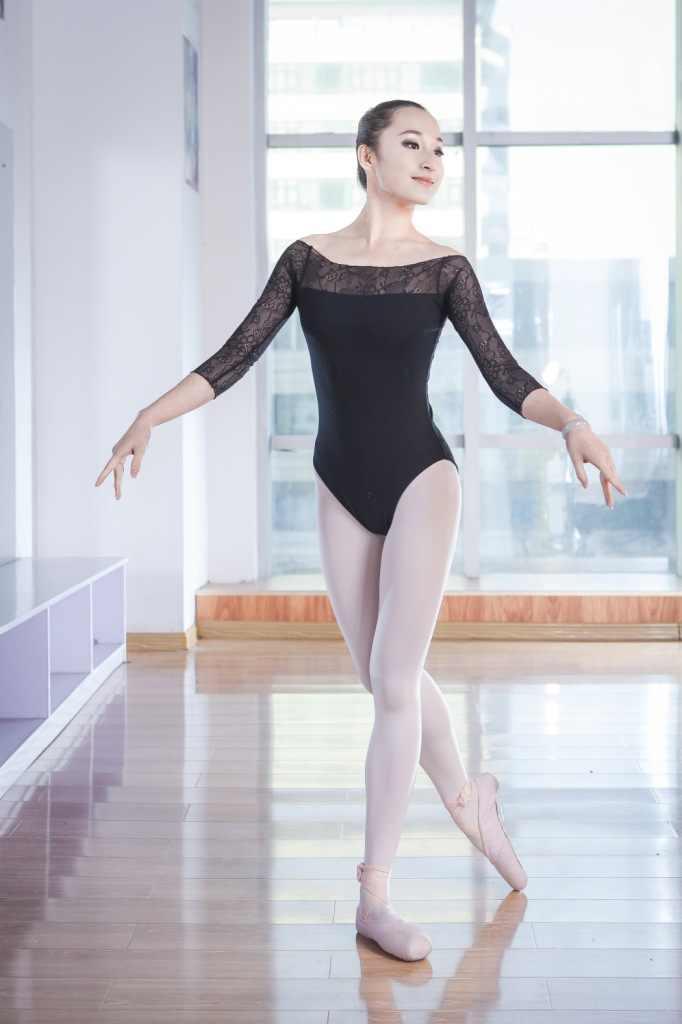 Dziewczyny dorosłych balet trykoty Sexy Backless kobiety balet body gimnastyka trykoty koronki mocno taniec nosić kostium baletowy 89