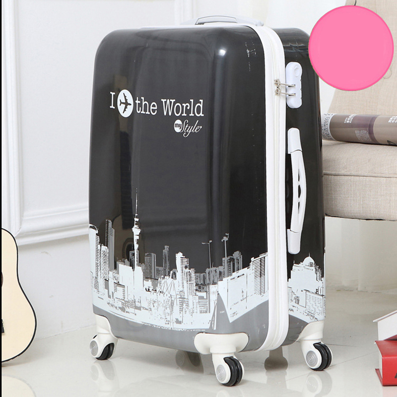 24 inch Tower rolling luggage Spinner suitcase Wheels trolley travel bag trunk students carry on luggage