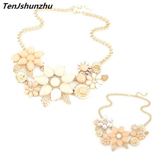 10 Estilo moda brilhante flor colar charme strass maxi colar e pingente de multi camada colar Para As Mulheres presente dz219