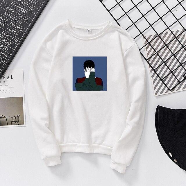 cover face girl 2018 autumn winter visavis top women black shirt bigbang  long t shirt lolita fbbce4e495