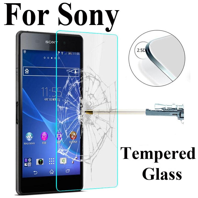 2.5D Закаленное Стекло для Sony Xperia z1 z2 z3 Z4 Z5 Compact m2 M4 Aqua M5 Экран протектор Закаленное Стекло плёнки