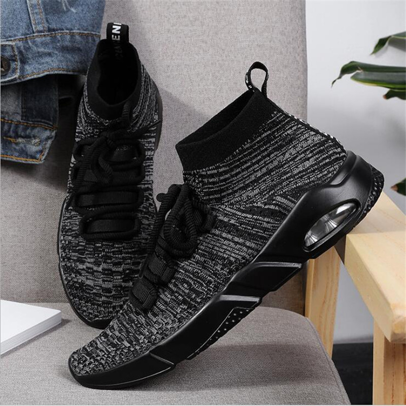 VIXLEO 2018 Lovers Men Running Shoes For Women Fly line knitting Socks Sport Shoes Man B ...