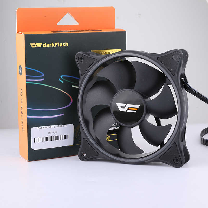 Darkflash RGB PC Case Fan 120 Mm Komputer CPU Kipas Pendingin Tenang ASUS Aura Sync Pendingin Menyesuaikan Kecepatan LED Kipas PC MR12
