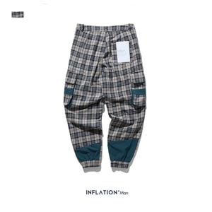 Image 5 - INFLATION Streetwear Men Plaid Jogger Pants  Joggers Casual Pants 2020 Man Hip Hop Pants Plus Size Jogger Casual Pants 93367W
