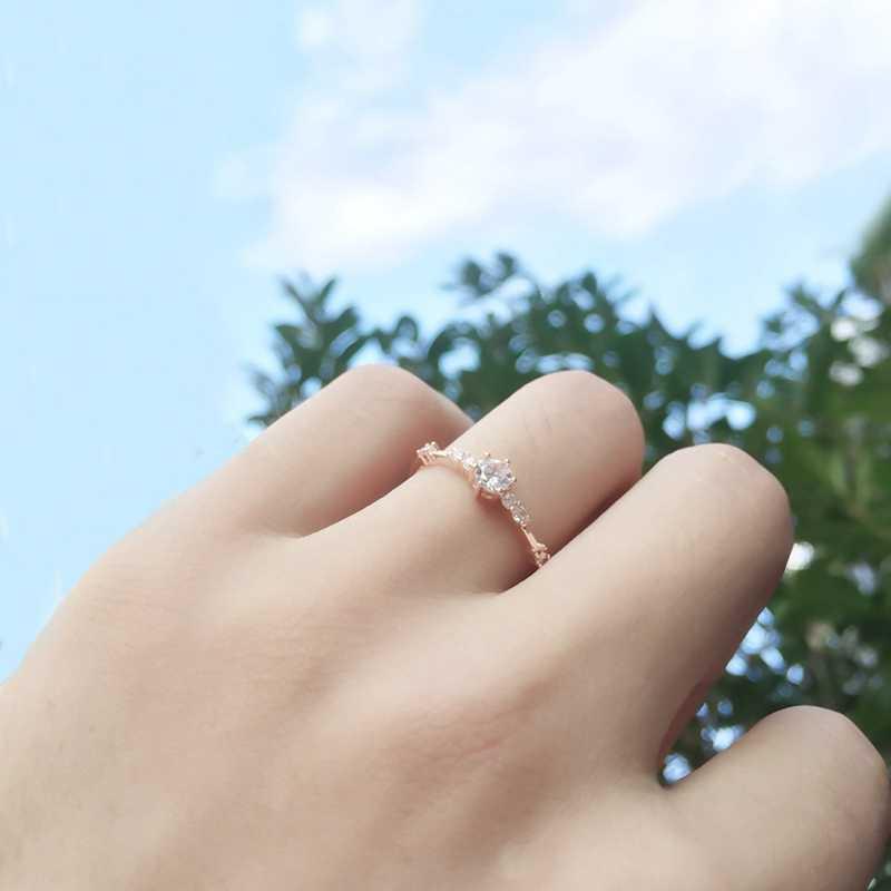 Delle Donne di modo Anello di Barretta Dei Monili In Oro Rosa/Nastro/Colore Oro Anelli di Cristallo del Rhinestone 4/5/6 /7/8/9/10/11 dimensione del Regalo