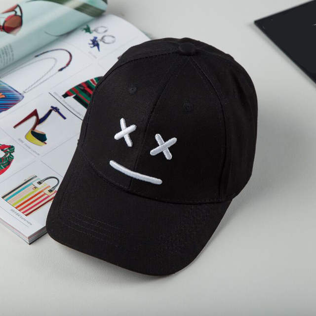 placeholder Snapback Caps Child Hip-hop Baseball Cap Boy Girl Crooked Hat  Lovely Smile Cat Face 3ea7943d9f54