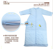 100% cotton baby child sleeping bag fall winter anti kicking quilt detachable fillings