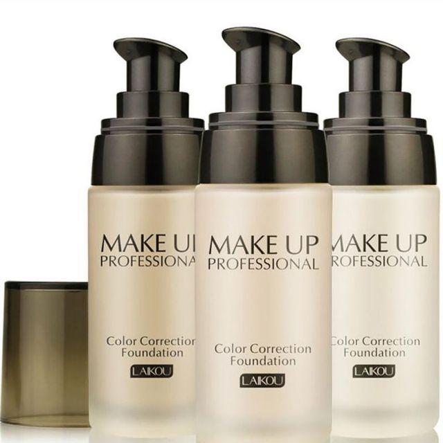 3 colores hidratante cara blanqueamiento corrector líquido base ilumina la piel Color cosméticos encoge los poros 40 ml base facial