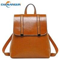 Chuwanglin Genuine Leather backpack women Simple female Daily backpack fashion school bags high quality travel backpacks A2338