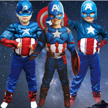 Attack On Titan Naruto 2016 New Hot Style Cosplay Anime Clothes Muscle Captain America Children Dance Performance Clothing