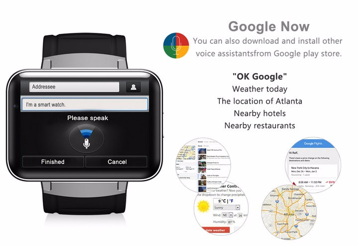 2.2-Display- 320240-LED-DM98-Smart-Watch-Android 5.1- MTK6572A-Dual-core -1.2G -900Mah -Camera-WIFI-3G-QQ-GPS-App-For-Smartphone (10)