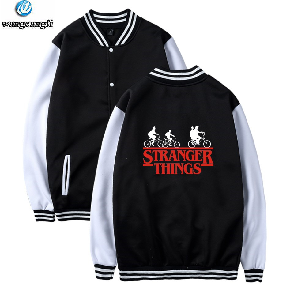 2018 Stranger Things New Style Long Sleeve Baseball Jacket Men/Women Winter Hot TV Series Casual Outwear Sweatshirt Coat