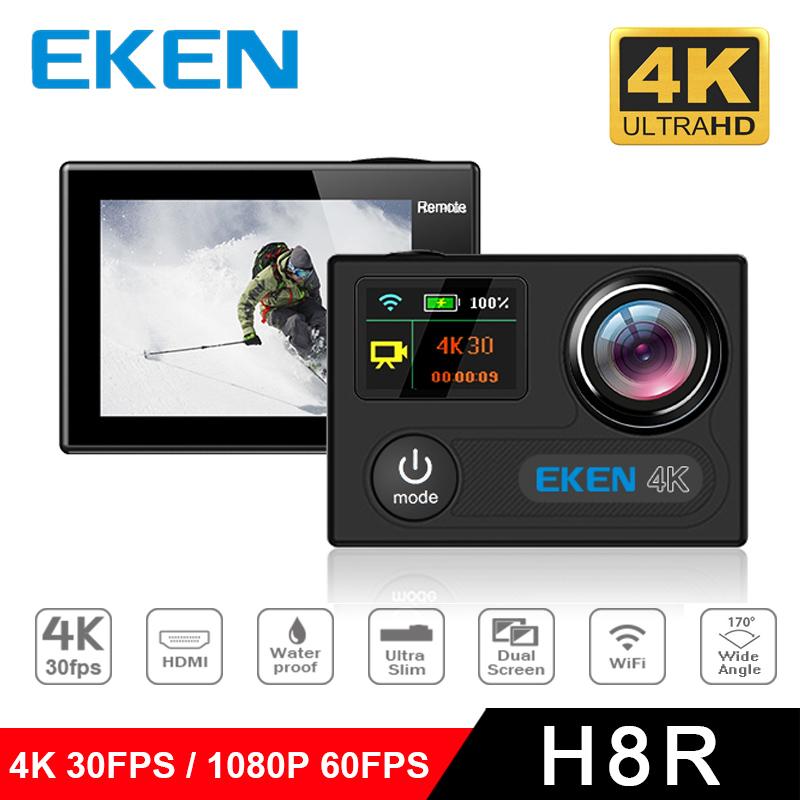 """Prix pour Ultra HD 4 K 30fps WIFI Sport Action Caméra EKEN H8 H8R avec télécommande Double Écran 2 """"LCD Étanche MINI Caméscope DVR"""