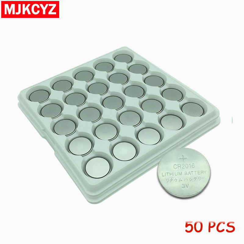 50PCS/lot CR2016 3V Lithium Battery DL2016 ECR2016 LM2016 BR2016 CR 2016 Button Coin Batteries free shipping image