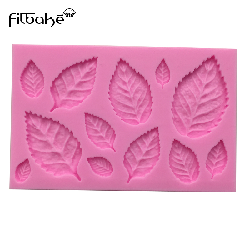 New Arrival leaf shaped 3D silicone cake fondant mold cake decoration tools soap candle moulds D095