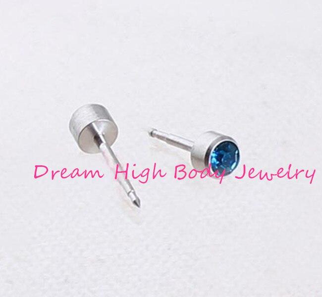 100pcs Piercing Tool Kit Ear Stud Piercing Gun For Piercer Ring 4mm Gem For Women 316l Stainless Steel Blue Red High Quality