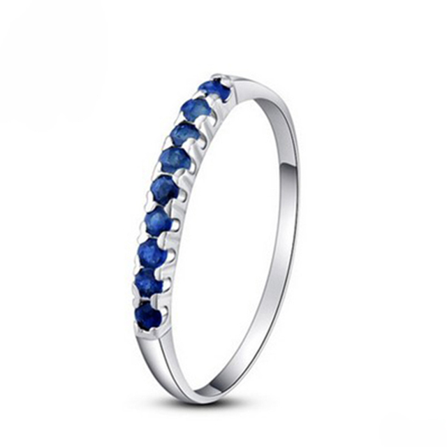 New arrival good quality natural sapphire ring with pure 925 silver jewelery sample style sapphire ring 10 pcs genuine stone