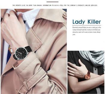 Super slim Quartz Casual Wristwatch Business JAPAN SINOBI Brand Leather Analog Quartz Watch 5