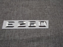 ABS Plastic Car Trunk Rear Letters Badge Emblem Decal Sticker for Mercedes Benz E Class E260