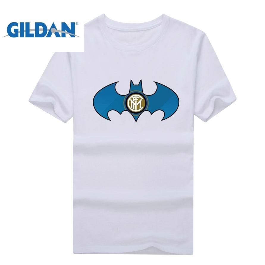 GILDAN Milan Become Superhero for You Short Sleeve T Shirt Men Short Sleeve T-shirts for inter fans gift