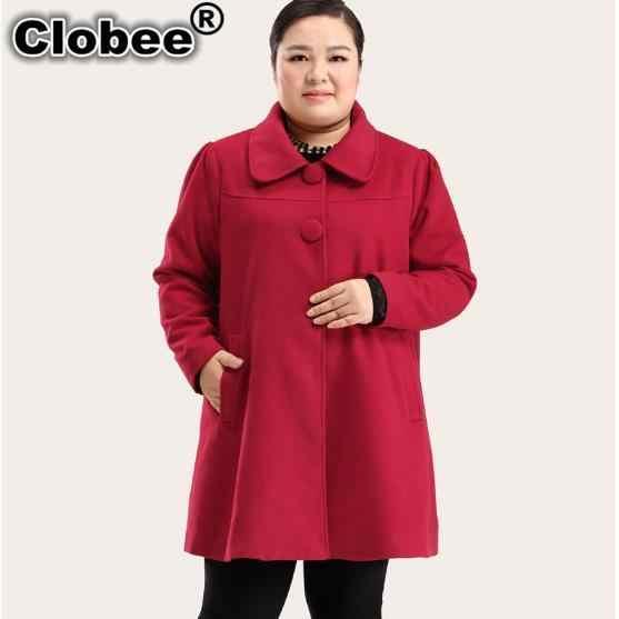 Clobee женские пальто 2019 больше размера d с длинным рукавом зимние пальто с отложным воротником Ретро кашемировое Женское пальто туника для дам размера плюс M179