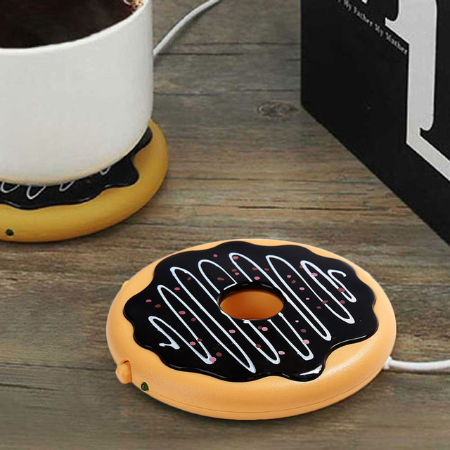 Cute Donut Shaped Eco-Friendly Silicone USB Cup Heater